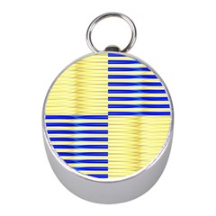 Metallic Gold Texture Mini Silver Compasses by Onesevenart