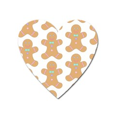Pattern Christmas Biscuits Pastries Heart Magnet by Onesevenart
