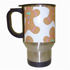 Pattern Christmas Biscuits Pastries Travel Mugs (white)