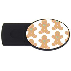 Pattern Christmas Biscuits Pastries Usb Flash Drive Oval (4 Gb) by Onesevenart