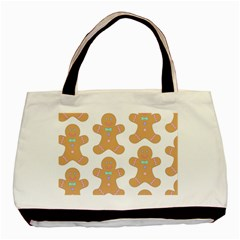 Pattern Christmas Biscuits Pastries Basic Tote Bag by Onesevenart