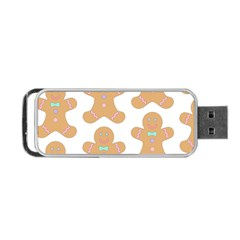 Pattern Christmas Biscuits Pastries Portable Usb Flash (two Sides) by Onesevenart