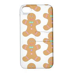 Pattern Christmas Biscuits Pastries Apple Iphone 4/4s Hardshell Case With Stand by Onesevenart