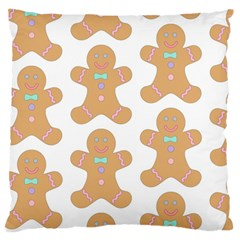 Pattern Christmas Biscuits Pastries Standard Flano Cushion Case (one Side) by Onesevenart