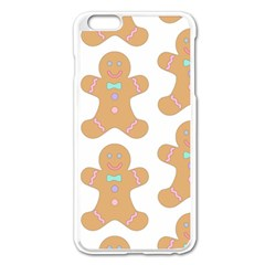 Pattern Christmas Biscuits Pastries Apple Iphone 6 Plus/6s Plus Enamel White Case by Onesevenart
