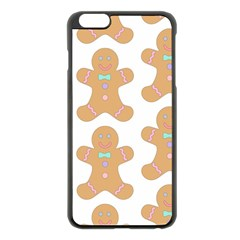 Pattern Christmas Biscuits Pastries Apple Iphone 6 Plus/6s Plus Black Enamel Case by Onesevenart