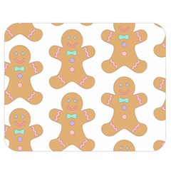 Pattern Christmas Biscuits Pastries Double Sided Flano Blanket (medium)  by Onesevenart