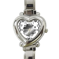 Metal Circle Background Ring Heart Italian Charm Watch by Onesevenart