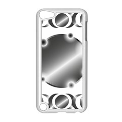 Metal Circle Background Ring Apple Ipod Touch 5 Case (white) by Onesevenart