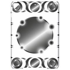 Metal Circle Background Ring Apple Ipad Pro 9 7   Hardshell Case by Onesevenart