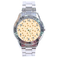 Pattern Gingerbread Star Stainless Steel Analogue Watch by Onesevenart