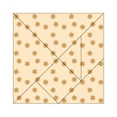 Pattern Gingerbread Star Acrylic Tangram Puzzle (6  X 6 ) by Onesevenart
