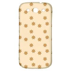 Pattern Gingerbread Star Samsung Galaxy S3 S Iii Classic Hardshell Back Case by Onesevenart