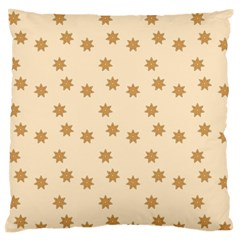 Pattern Gingerbread Star Large Flano Cushion Case (one Side) by Onesevenart