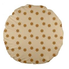 Pattern Gingerbread Star Large 18  Premium Flano Round Cushions by Onesevenart