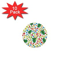 Pattern Circle Multi Color 1  Mini Buttons (10 Pack)  by Onesevenart