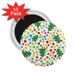 Pattern Circle Multi Color 2 25  Magnets (10 Pack)  by Onesevenart