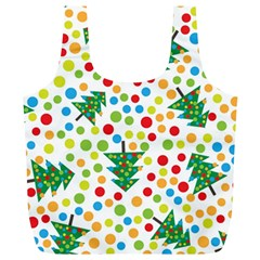 Pattern Circle Multi Color Full Print Recycle Bags (l)  by Onesevenart