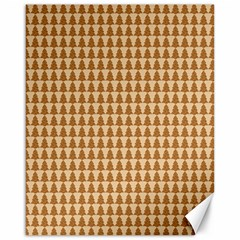 Pattern Gingerbread Brown Canvas 16  X 20   by Onesevenart