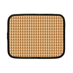 Pattern Gingerbread Brown Netbook Case (small)  by Onesevenart