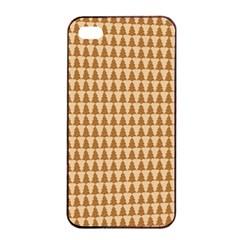 Pattern Gingerbread Brown Apple Iphone 4/4s Seamless Case (black) by Onesevenart