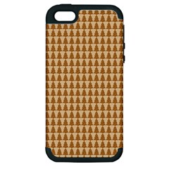 Pattern Gingerbread Brown Apple Iphone 5 Hardshell Case (pc+silicone) by Onesevenart