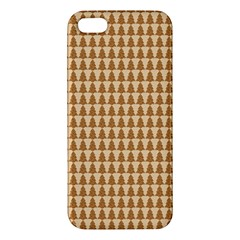Pattern Gingerbread Brown Apple Iphone 5 Premium Hardshell Case by Onesevenart