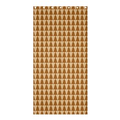 Pattern Gingerbread Brown Shower Curtain 36  X 72  (stall)  by Onesevenart