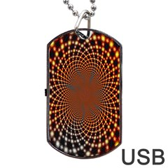 Pattern Texture Star Rings Dog Tag Usb Flash (two Sides) by Onesevenart