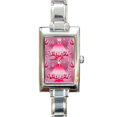 Seamless Repeat Repeating Pattern Rectangle Italian Charm Watch by Onesevenart