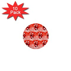 Seamless Repeat Repeating Pattern 1  Mini Buttons (10 Pack)  by Onesevenart