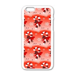 Seamless Repeat Repeating Pattern Apple Iphone 6/6s White Enamel Case by Onesevenart