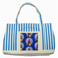 Seamless Repeat Repeating Pattern Art Striped Blue Tote Bag by Onesevenart