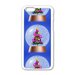 Seamless Repeat Repeating Pattern Art Apple Iphone 6/6s White Enamel Case by Onesevenart