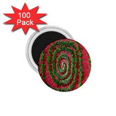 Red Green Swirl Twirl Colorful 1 75  Magnets (100 Pack)  by Onesevenart