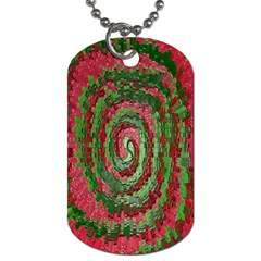 Red Green Swirl Twirl Colorful Dog Tag (two Sides) by Onesevenart
