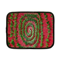 Red Green Swirl Twirl Colorful Netbook Case (small)  by Onesevenart