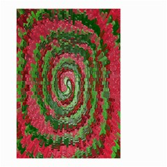 Red Green Swirl Twirl Colorful Small Garden Flag (two Sides) by Onesevenart