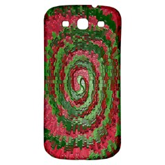Red Green Swirl Twirl Colorful Samsung Galaxy S3 S Iii Classic Hardshell Back Case by Onesevenart