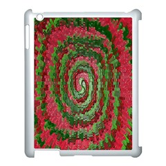 Red Green Swirl Twirl Colorful Apple Ipad 3/4 Case (white) by Onesevenart