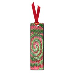 Red Green Swirl Twirl Colorful Small Book Marks by Onesevenart