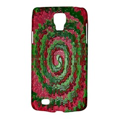 Red Green Swirl Twirl Colorful Galaxy S4 Active by Onesevenart