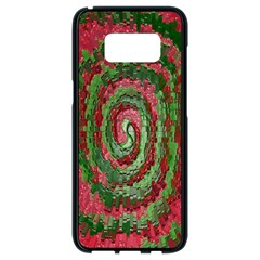 Red Green Swirl Twirl Colorful Samsung Galaxy S8 Black Seamless Case by Onesevenart