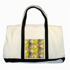 Seamless Repeat Repeating Pattern Two Tone Tote Bag by Onesevenart