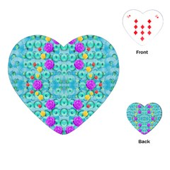 Season For Roses And Polka Dots Playing Cards (heart)  by pepitasart