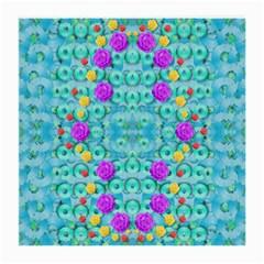 Season For Roses And Polka Dots Medium Glasses Cloth by pepitasart