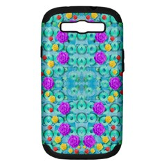 Season For Roses And Polka Dots Samsung Galaxy S Iii Hardshell Case (pc+silicone) by pepitasart