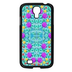Season For Roses And Polka Dots Samsung Galaxy S4 I9500/ I9505 Case (black) by pepitasart