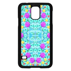 Season For Roses And Polka Dots Samsung Galaxy S5 Case (black) by pepitasart