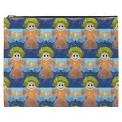 Seamless Repeat Repeating Pattern Cosmetic Bag (xxxl)  by Onesevenart